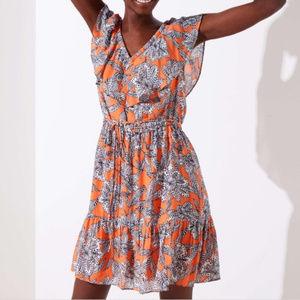 Ann Taylor LOFT - Abstract Floral Flounce Dress